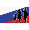 Russia soldier family salute vector image vector image