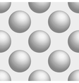 Seamless background 3D balls is white vector image