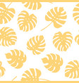 seamless pattern of monstera leaves tropical leav vector image vector image