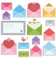set colorful envelopes vector image