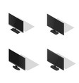 set of flat monitors in 3d vector image vector image