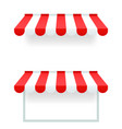 store awning canopy sun protection 3d realistic vector image vector image