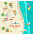 Summer beach banner vector image
