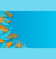summer tropical background - blue and orange vector image