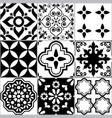 tile seamless azlejos pattern portuguease vector image vector image
