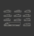 transportation icon set car truck symbol vector image vector image