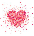 valentines day red background with hearts love vector image vector image