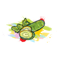 vegetables with grunge vector image vector image