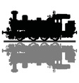 vintage steam locomotive vector image