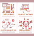 web and graphic design set vector image