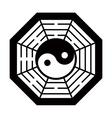 Yin Yang symbol black and white vector image vector image