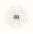 Hand drawn sunburst - idea vector image