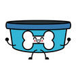 dog bowl bone kawaii cartoon vector image
