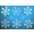 Romantic Snowflake Set vector image