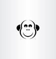 funny monkey icon vector image