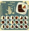 types of coffee drinks vector image