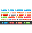 a set colorful round icons and buttons for a vector image