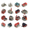 abandoned buildings isometric set vector image vector image