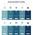 amusement park infographic 10 option ui design vector image
