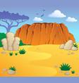 australian theme landscape 1 vector image