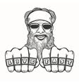 Bearded Biker vector image vector image