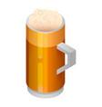 beer mug icon isometric style vector image vector image