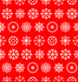 big snowflakes set in flat style colorful vector image