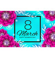 bright pink origami spring flowers banner paper vector image