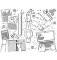 Business finance management team work analysis str vector image vector image