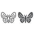 butterfly line and glyph icon nature and fly vector image vector image