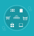 buy on line set icons vector image
