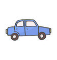 car color doodle isolated on vector image