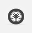 car wheel with tire icon or logo element vector image vector image