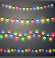christmas lights colorful xmas garland vector image