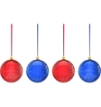 Christmas multicolor balls on white background vector image vector image