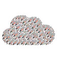 cloud collage of thermometer icons vector image vector image