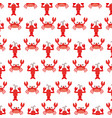 cute crab and lobster sealife pattern vector image
