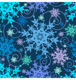 Decorative seamless pattern colorful snowflakes vector image vector image