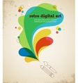 Digital art poster with splash color vector | Price: 1 Credit (USD $1)