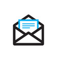 e-mail icon on white background vector image
