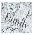 Family christmas gift exchange games Word Cloud vector image vector image