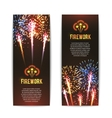 Festive firework 2 vertical banners set vector image vector image