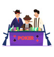 flat criminal presented in underground casino vector image vector image