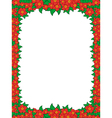 Frame with red flowers vector image vector image
