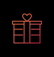gift box outline colorful icon valentines vector image