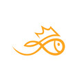 golfish symbol icon on white vector image