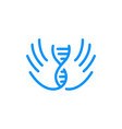 hand dna logo icon vector image