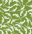 Hand Drawn Revolver Gun Seamless Pattern vector image