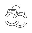 handcuffs police related icon editable stroke vector image vector image