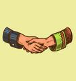 handshake peoples symbol friendship vector image